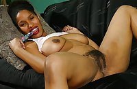 huge tit black woman with hairy pussy - enjoy jacking to her