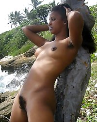 Black beauties showing hairy armpits - and more! (3)